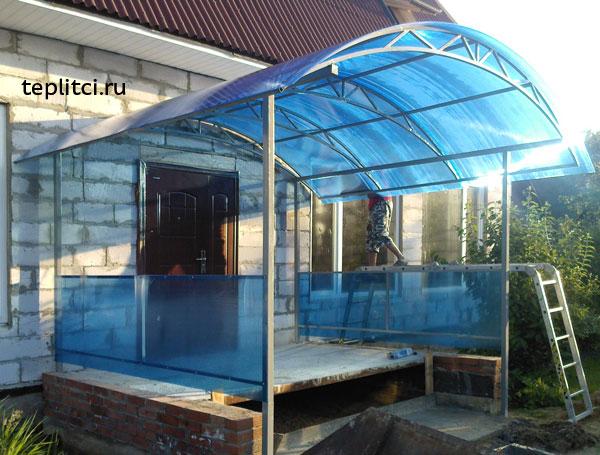Крыльцо из поликарбоната к дому своими руками проекты фото из поликарбоната